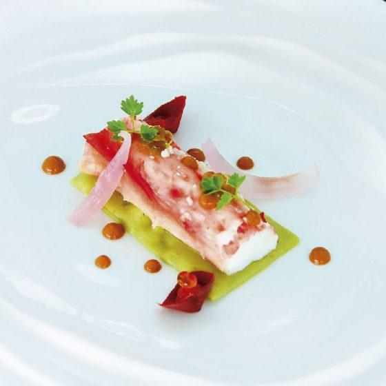 Plato de pescado en el Restaurante Donaire